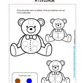 Atividade Pintura com dedos Educação infantil – para baixar